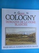 1631 - Suisse  Genève Gamay De Cologny 1992 Domaine De La Vigne Blanche - Sonstige