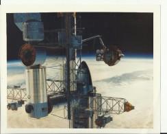 ASTRONAUT, SPACE FLIGHT TO MOON  --  PHOTO   25,4 Cm X 20,5 Cm  --  2 X SCAN - Aviation