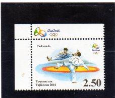 2016 Tajikistan - Olimpiadi Di Rio - Takehondo - Otros