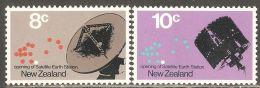 New Zealand 1971 Mi# 559-560 ** MNH - Satellite Earth Station Near Warkworth / Space