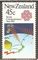 New Zealand 1983 Mi# 865 ** MNH - World Communications Year / Space