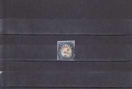 ROYAUME/VICTOR EMMANUEL II/EFFIGIE EN RELIEF /20C BLEU FONCé/OBLITéRé/N° 12 YVERT ET TELLIER  1855-61 - Sardegna