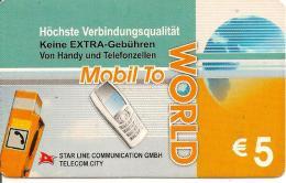 CARTE-PREPAYEE-ALLEMAGNE-5€-GSM-STAR LINE-TBE - Allemagne