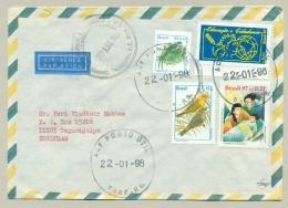 Brasil - 1998 - 4 Stamps On Cover From Bagé To Tegucigalpa / Honduras - Brieven En Documenten