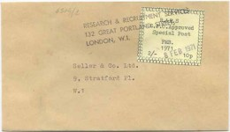 1971 EMERCENCY PRIVATE MAIL SERVICE STRIKE POST R&RS P. 10 LONDON 8.2.71 SCIOPERO POSTE BUSTA (6846) - 1952-.... (Elisabetta II)