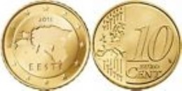 Estonia 2016      10 Cent   UNC Uit De BU  UNC Du Coffret  EXTREME RARE   !! - Estland