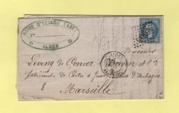 Alger - Algerie - Gc 5005 - Theme Cigarette Tabac - Courrier A En Tete - Storia Postale