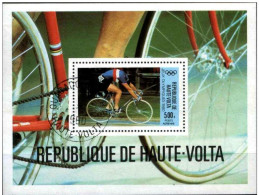 Upper Volta 1980 Mi# Block 55 Used - Olympic Games, Moscow / Bicycling / CYCLING Used (o) (LOT - 2 - 132) - Cycling