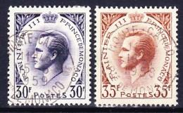 MONACO 1955-57 YT N° 426 Et 426A Obl. - Monaco