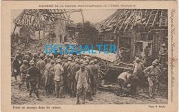 Advertising Card Like Postcard-´´Neurinase Génévrier´´ -Poste De Secours Dans Les Ruines - Section Phot. Armée Française - Advertising