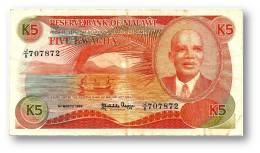MALAWI - 5 Kwacha - 1.3.1986 - P 20.a - Serie J/8 - 2 Scans - Malawi