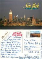 Skyline, New York City NYC, New York, United States US Postcard Posted 2001 Stamp - New York City