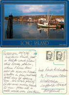 Port Jefferson Harbor, Long Island, New York, United States US Postcard Posted 1991 Stamp - Long Island