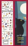 Marque Page. Bookmark. Editions Courtes Et Longues.  Chat, Papillon. - Bladwijzers
