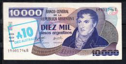 ARGENTINA 1985    10 AUSTRALES SOBRE  10.000 PESOS. MANUEL BELGRANO  EBC  B871 - Argentina