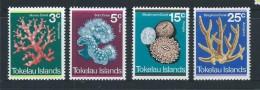 Tokelau 1973 Coral Set 4 MNH , Small Gum Blemishes - Tokelau