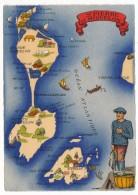 """CPSM - SAINT PIERRE ET MIQUELON - Carte Géographique """" St Pierre Et Miquelon"""" - Barré & Dayez - Saint-Pierre-et-Miquelon"""