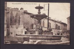 CPA 30 - BELLEGARDE - La Fontaine Des Lions - TB PLAN EDIFICE CENTRE VILLAGE Animation Lavandières - Bellegarde