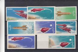 Espace - Fusée - Dubai - Yvert PA 40 / 47 ** - MNH - NON Dentelés - Valeur 25 Euros - Dubai
