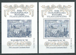 Poland 1999, Pair Of Blocks MiNr 136 A + B ** MNH; SLANIA - His 1001. Stamp, Polish Philately, Engraving, Art - Blocs & Feuillets
