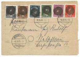 R22 - NETZSCHKAU  - Hitler Caviardé Rond Noir - 6 Aout 1945 - Occupation Zone Soviétique - - Lettres & Documents