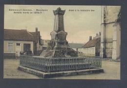 SOMME 80 HALLENCOURT Monument Elevé à La Mémoire Des Soldats Morts 1870-71 Belle Carte Toilée - Andere Gemeenten