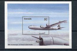 Grenada 1995 MNH WWII VJ Day 50th Anniv Peace In Pacific 1v S/S Fighter Planes - Militaria