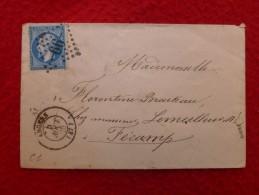 GC 66 ANGERS CACHET D ESSAI PARIS AU HAVRE CACHET AMBULANT DE NUIT NANTES A PARIS - 1849-1876: Classic Period