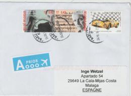 B367 /  - BELGIEN Schöne Frankatur Auf Brief 2016 (3 Marken) - Belgium