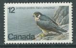 Canada Thème Polaire N° 654 XX Espèce Menacée D´extinction : Faucon Pèlerin Sans Charnière, TB - 1952-.... Règne D'Elizabeth II