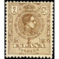 ES289STV-LFT***289S.España.Spain. Espagne.REY ALFONSO Xlll.MEDALLON .1909/22.(Ed 289**)  Sin  Charnela - Nuevos