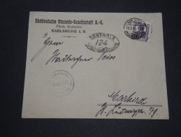 ALLEMAGNE - Enveloppe De Karlsruhe En 1919 Avec Contrôle Militaire - A Voir - L 1802 - Germany