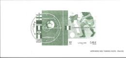 2002 GRAVURE DU TIMBRE  3483 3484 CHAMPIONS DU MONDE DE FOOTBALL - Documenten Van De Post