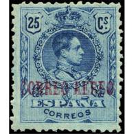 ES294STV-LFT***294STCFR.España.Spain. Espagne.REY ALFONSO Xlll.MEDALLON .AEREO.1920.(Ed 284**)  Sin  Charnela - Nuevos & Fijasellos