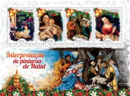 GUINEA BISSAU 2014 - Christmas Paintings, Donkeys - YT 5556-9; CV = 18 €