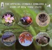 St Vincent & Grenadines 2016 MNH Symbols Icons New York State NY2016 6v M/S - Reptiles & Batraciens
