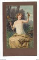 14849 - Belle Jeune Fille Tenant Grappe De Raisin - Femmes