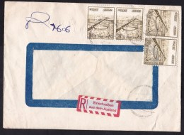 Egypt: Registered Cover, 4 Stamps, German Label (traces Of Use, 2 Stamp Damaged) - Egypte