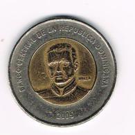 °°° DOMINICAANSE  REPUBLIEK  10 PESO  2005 - Dominicaine
