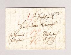 Heimat CH TG PFYN Balkenstempel 8.3.1847 Vorphila Brief Teil - Svizzera