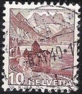 """Chillon 1939: Zu 242z Mi 363az Yv 348b """"geriffelt-grillé"""" Mit Voll-o GENÈVE 8.XI.40 (Zumstein CHF 35.00) - Suisse"""