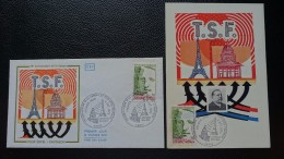 FRANCE CEF Enveloppe Et Carte Maximum 1er Premier Jour ANNIVERSAIRE LIAISON TOUR EIFFEL PANTHEON 1973 - Timbre Poste - FDC