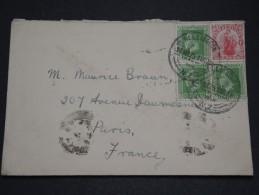 NOUVELLE ZÉLANDE - Enveloppe Pour La France En 1925 - A Voir - L 1843 - Covers & Documents
