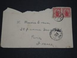 NOUVELLE ZÉLANDE - Enveloppe Pour La France En 1924- A Voir - L 1845 - Covers & Documents