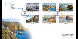 Guernsey - Postfris / MNH - FDC SEPAC, Kunstenaars Van Guernsey 2015 - Guernsey