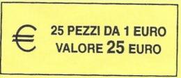 ITALIA  2014 - ROLL  1 EURO  ORIGINALE ZECCA - DATA VISIBILE - FDC - Rotolini