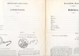 1871 - ARMISTICE Du 28 Janvier - LAISSEZ-PASSER Bilingue - Vierge - - Documenti Storici