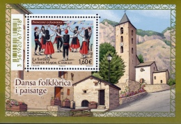 "Andorra (French Adm.), Dance ""El Contrapas"" In Ordino 2015, MNH VF  Souvenir Sheet Of One - French Andorra"