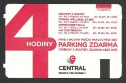 Slovakia, Bratislava, Parking Ticket For Central Mall. - Tickets - Vouchers