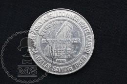 Vintage 1987 Sundowner Hotel Casino, Reno, Nevada, United States - One Dollar Gaming Token/ Chip - Casino